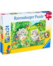 Пъзел Ravensburger от 2 по 24 части - Коали и панди