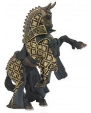 Фигурка Papo The Medieval Era – Конят на рицаря на Златния бик -1