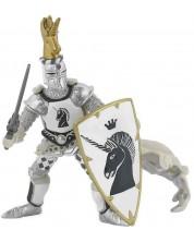 Фигурка Papo The Medieval Era – Рицар на Черния еднорог