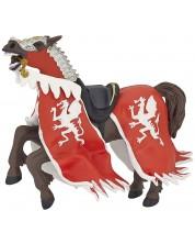 Фигурка Papo The Medieval Era – Конят на рицаря на Червения дракон
