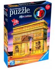 3D пъзел Ravensburger от 216 части - Триумфалната арка през нощта