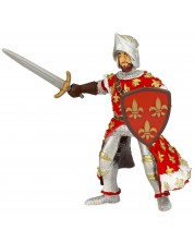 Фигурка Papo The Medieval Era – Принц Филип, с червени доспехи