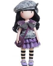 Кукла Paola Reina Gorjuss - Little Violet, с плетена рокля в лилаво, 32 cm