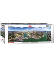 Панорамен пъзел Eurographics от 1000 части - Париж, Франция -1