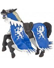 Фигурка Papo The Medieval Era – Конят на рицаря на Синия дракон