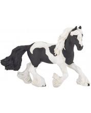 Фигурка Papo Horses, foals and ponies – Черно-бял кон