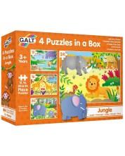 Пъзел Galt Toys 4 в 1 - Джунгла -1