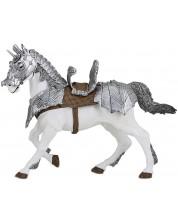 Фигурка Papo The Medieval Era – Конят на рицаря в броня