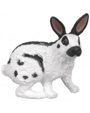 Фигурка Papo Farmyard Friends – Бяло зайче с черни уши