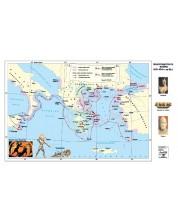 Пелопонеската война 431-404 г. пр. Хр. (стенна карта)