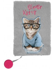 Плюшен дневник Paso Rachael Hale - Clever Kitty, А5, 80 листа -1