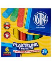 Пластилин с блясък Astra - 6 цвята