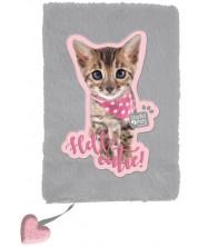 Плюшен дневник Paso Studio Pets - Hello cutie, А5, 80 листа