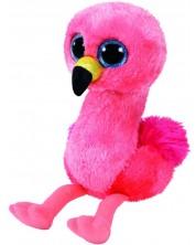 Плюшена играчка TY Toys Beanie Boos - Розово фламинго Gilda, 15 cm