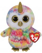 Плюшена играчка TY Toys Beanie Boos - Бухалче с рог Enchanted, 15 cm -1