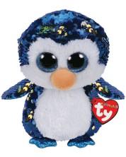 Плюшена играчка с пайети TY Toys Flippables - Пингвин Payton, 24 cm -1