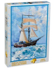Пъзел Gold Puzzle от 500 части - Платноходка в океан -1