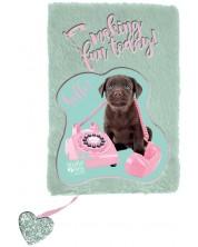 Плюшен дневник Paso Studio Pets - Making Fun Today, А5, 80 листа -1