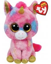 Плюшена играчка TY Toys Beanie Boos - Еднорог Fantasia, 15 cm