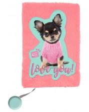 Плюшен дневник Paso Studio Pets - Love You, А5, 80 листа -1
