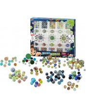 Игра с мраморни топчета Buki Construction - 163 топчета -1