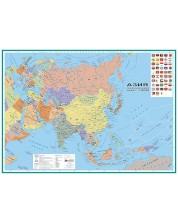 Политическа стенна карта на Азия (1:11 000 000)