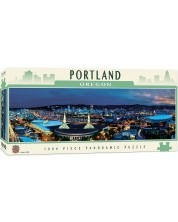 Панорамен пъзел Master Pieces от 1000 части - Портланд, Орегон -1