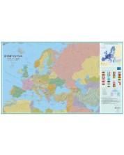 Политическа стенна карта на Европа (1:5 000 000, 107/175 см)