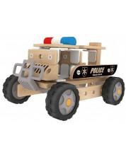 Дървен конструктор Classic World – Полицейски автомобил -1