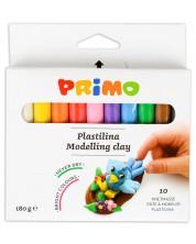 Комплект пластилин Primo - 10 цвята, 180 g