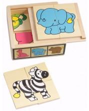 6 мини пъзела в кутия Pino - Диви животни -1