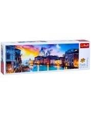 Панорамен пъзел Trefl от 1000 части - Канал Гранде, Венеция -1