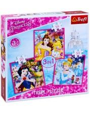Пъзел Trefl 3 в 1 - Дисни принцеси