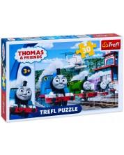 Пъзел Trefl от 30 части - Томас и приятели, ЖП състезание