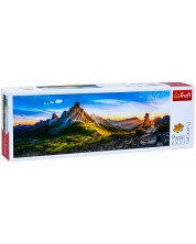 Панорамен пъзел Trefl от 1000 части - Проход Гиау, Доломити -1