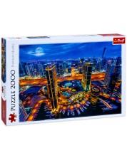 Пъзел Trefl от 2000 части - Светлините на Дубай