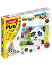 Мозайка от 40 едри части Quercetti - Pixel Junior -1