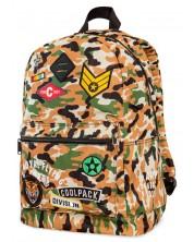 Ученическа раница Cool Pack Cross - Camo Desert Badges