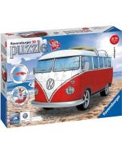 3D пъзел Ravensburger от 162 части - Ретро бус Volkswagen T1