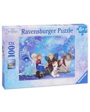 Пъзел Ravensburger от 100 XXL части - Замръзналото кралство: Ледена магия