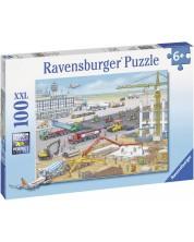 Пъзел Ravensburger от 100 XXL части - Строителна площадка на летището -1