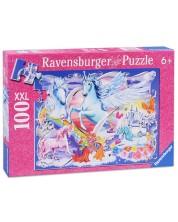 Пъзел Ravensburger от 100 XXL части - Удивителни еднорози -1