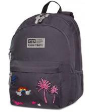 Ученическа раница Cool Pack Hippie - Sparkling Badges, Grey