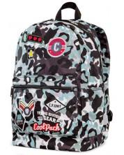 Ученическа раница Cool Pack Cross - Camo Blue Badges