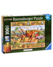 Пъзел Ravensburger от 100 XXL части - Динозаври -1