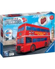 3D пъзел Ravensburger от 216 части - Моливник-Лондонски автобус -1