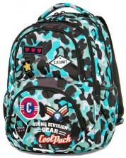 Ученическа раница Cool Pack Dart - Camo Blue Badges