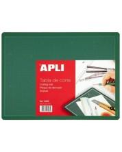 Разграфена дъска Apli - За рязане, зелена, 300 х 220 х 2 mm (А4)