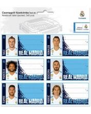 Комплект ученически етикети Ars Una - FC Real Madrid, 18 броя -1
