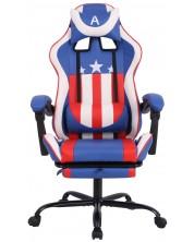 Геймърски стол RFG - Max Game, син и бял